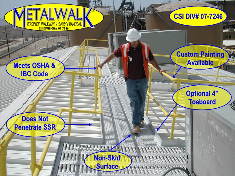 Metalwalk Rooftop Walkway System Specs