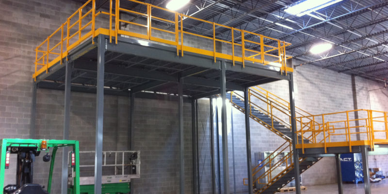 Structural Steel Modular Mezzanines and Stairs