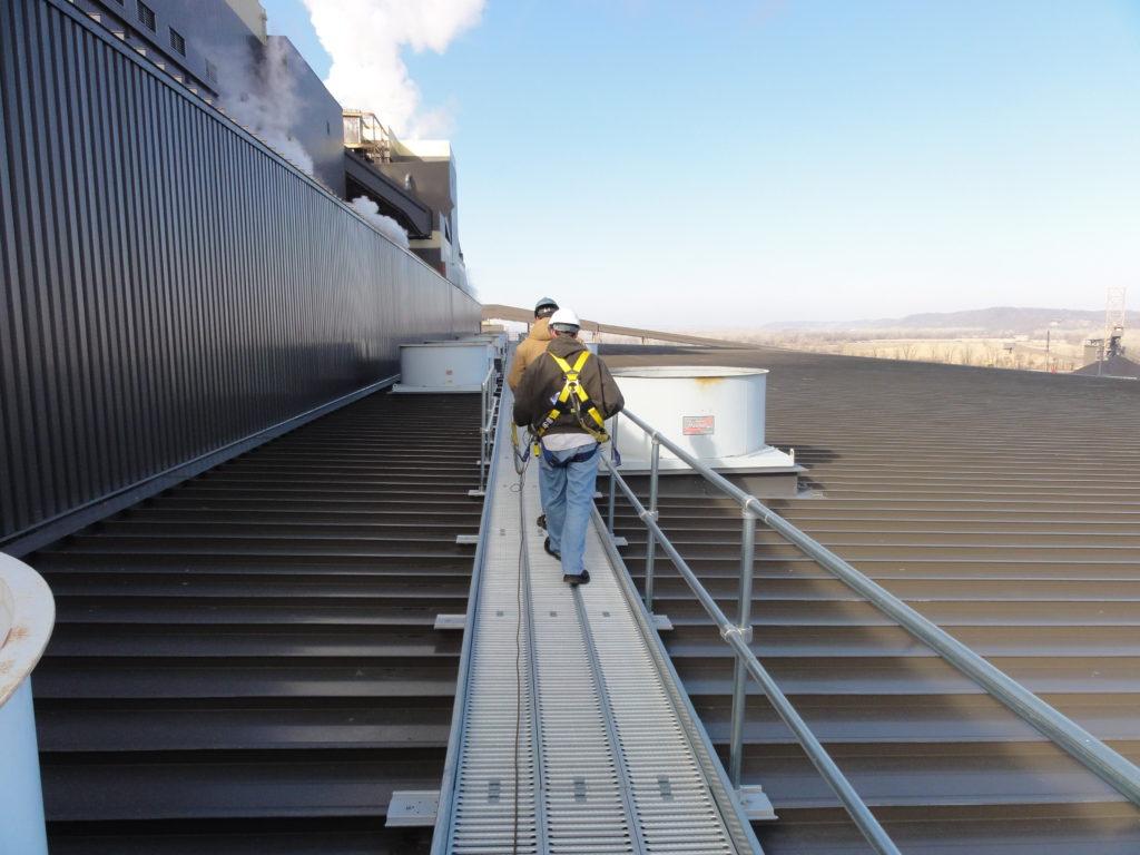 Safe Rooftop Metal Walkway Products Supplier Design